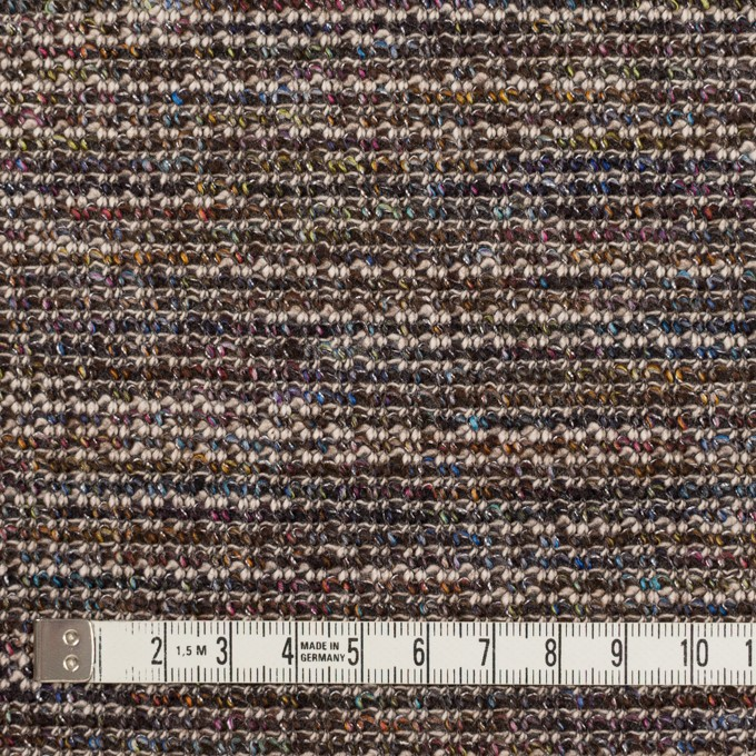 ウール&ポリエステル混×ミックス(マルチ)×Wニット イメージ4