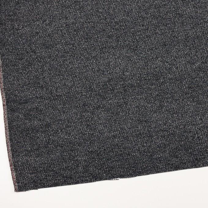 シルク&レーヨン×ミックス(ブルーグレー&ブラック)×かわり織 イメージ2