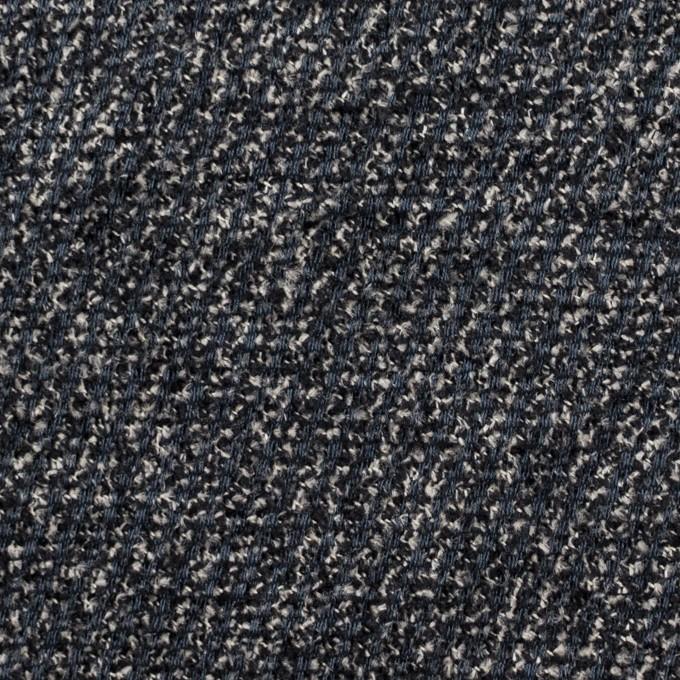 シルク&レーヨン×ミックス(ブルーグレー&ブラック)×かわり織 イメージ1