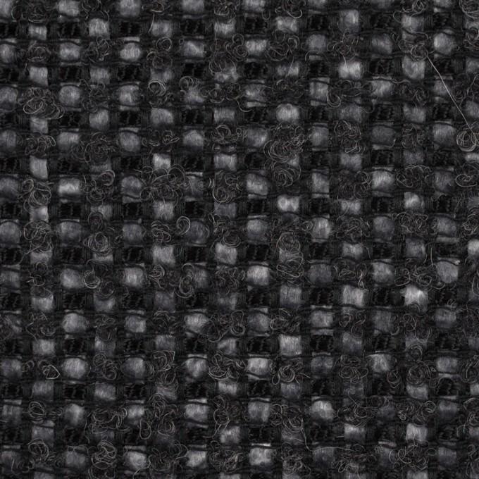 レーヨン&ウール混×ミックス(チャコール)×ファンシーツイード イメージ1