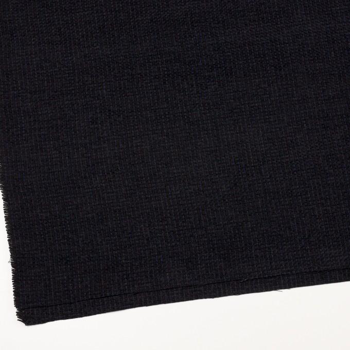 ウール&アクリル×ミックス(ミッドナイトブルー&ブラック)×ファンシーツイード イメージ2