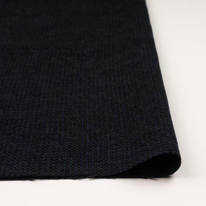 ウール&アクリル×ミックス(ミッドナイトブルー&ブラック)×ファンシーツイード イメージ3
