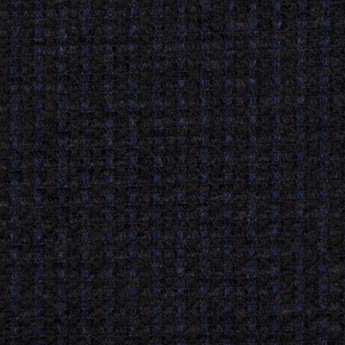 ウール&アクリル×ミックス(ミッドナイトブルー&ブラック)×ファンシーツイード イメージ1
