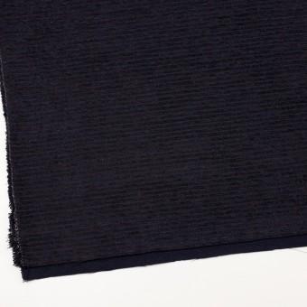 ウール&アクリル×ボーダー(プラム&アイアンネイビー)×Wかわり織 サムネイル2