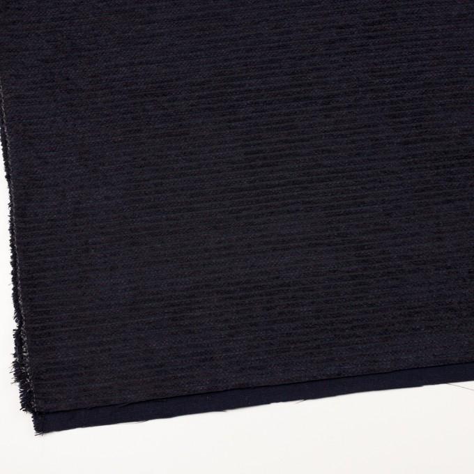 ウール&アクリル×ボーダー(プラム&アイアンネイビー)×Wかわり織 イメージ2