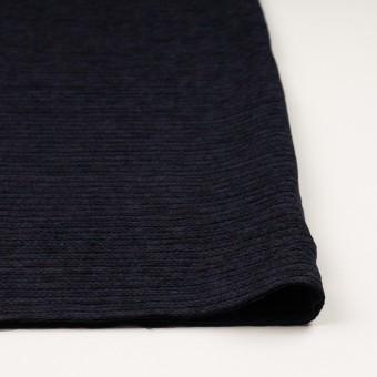 ウール&アクリル×ボーダー(プラム&アイアンネイビー)×Wかわり織 サムネイル3
