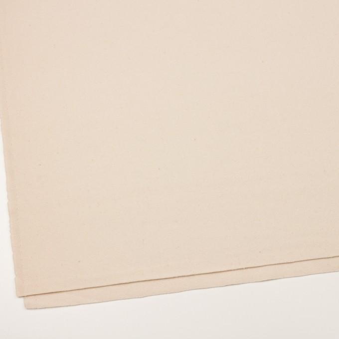ウール&ナイロン×無地(アンティークホワイト)×フラノ(フランネル)_イタリア製 イメージ2