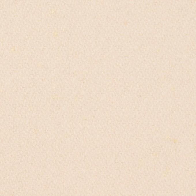 ウール&ナイロン×無地(アンティークホワイト)×フラノ(フランネル)_イタリア製 イメージ1