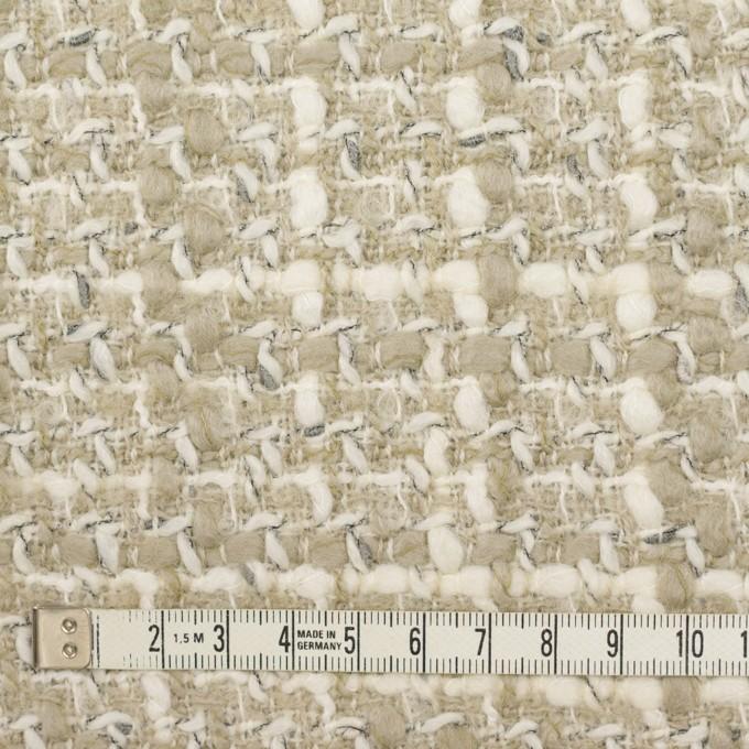 ウール&アクリル×ミックス(アイボリー&グレイッシュベージュ)×ファンシーツイード_イタリア製 イメージ4