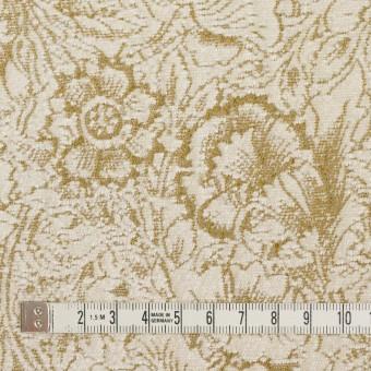 テンセル&ポリエステル混×フラワー(アイボリー&カーキベージュ)×ジャガード_イタリア製 サムネイル4