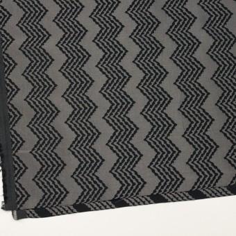 コットン&レーヨン×幾何学模様(シルバー&ブラック)×ジャガード サムネイル2