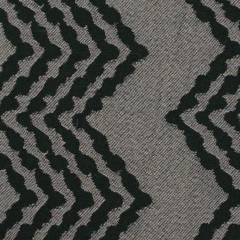 コットン&レーヨン×幾何学模様(シルバー&ブラック)×ジャガード サムネイル1