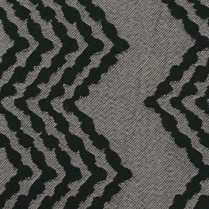 コットン&レーヨン×幾何学模様(シルバー&ブラック)×ジャガード イメージ1