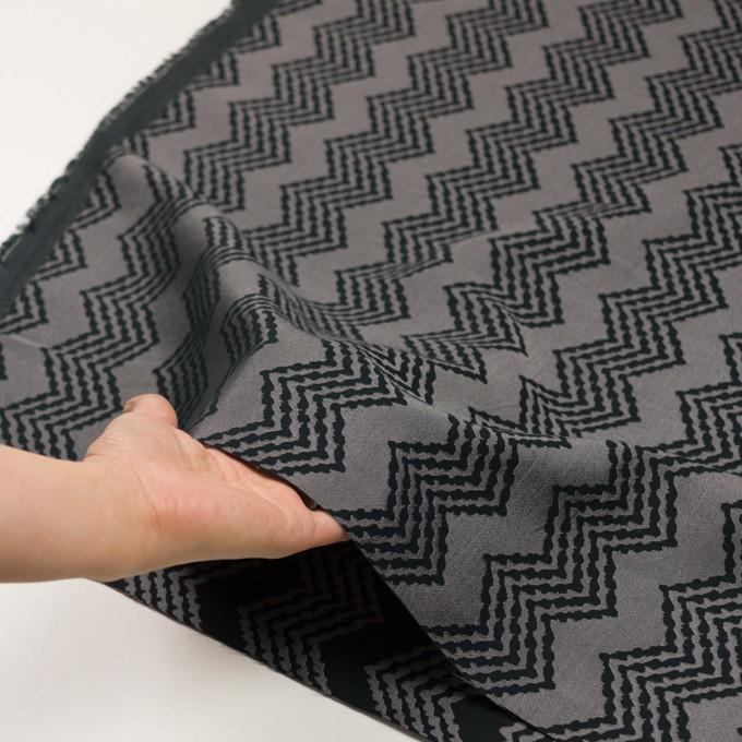 コットン&レーヨン×幾何学模様(シルバー&ブラック)×ジャガード イメージ5