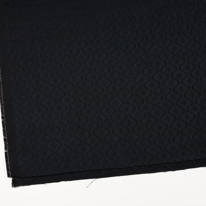 コットン&レーヨン×幾何学模様(ダークネイビー)×サテンジャガード イメージ2