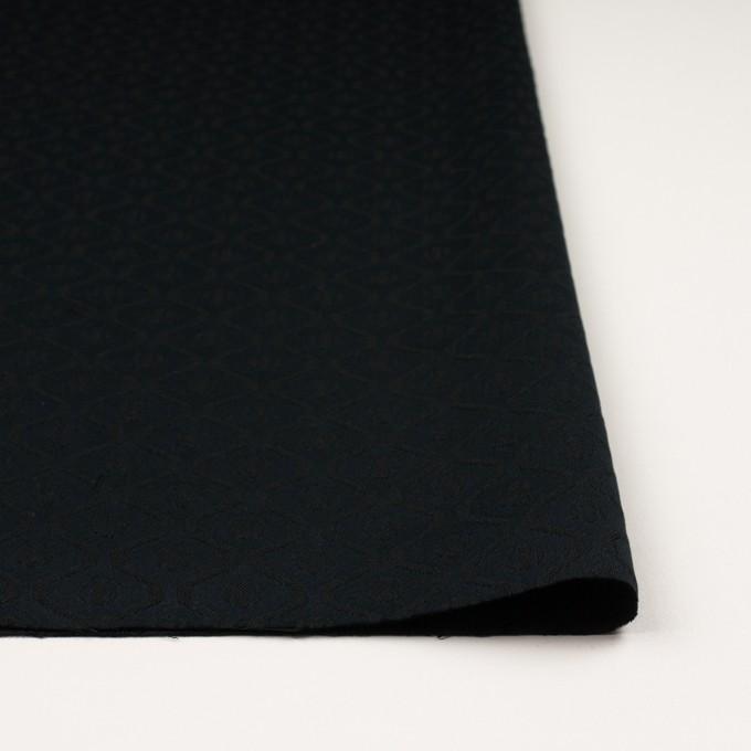 コットン&レーヨン×幾何学模様(ダークネイビー)×サテンジャガード イメージ3