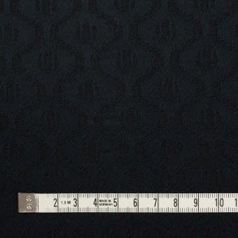 コットン&レーヨン×幾何学模様(ダークネイビー)×サテンジャガード サムネイル4