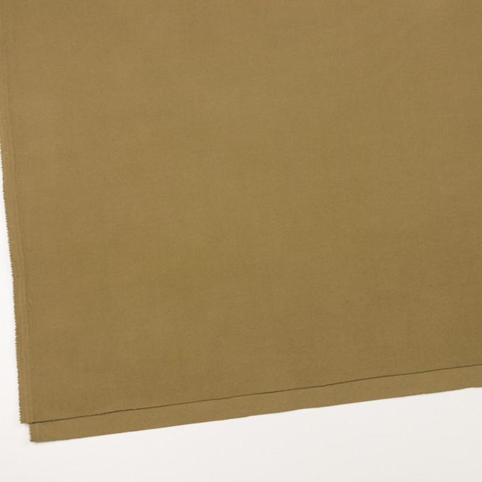 コットン&ポリウレタン×無地(イエローオーカー)×フランネル・ストレッチ_イタリア製 イメージ2
