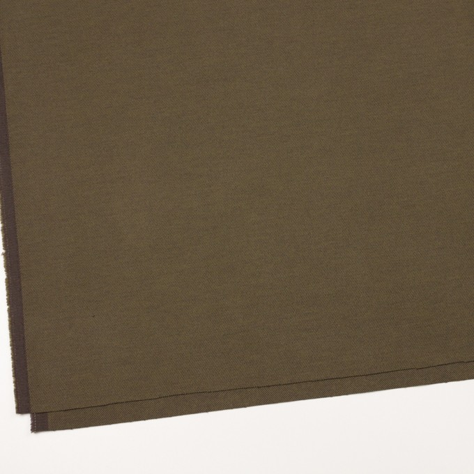 コットン&ポリウレタン×無地(オリーブ)×ビエラストレッチ_全3色 イメージ2