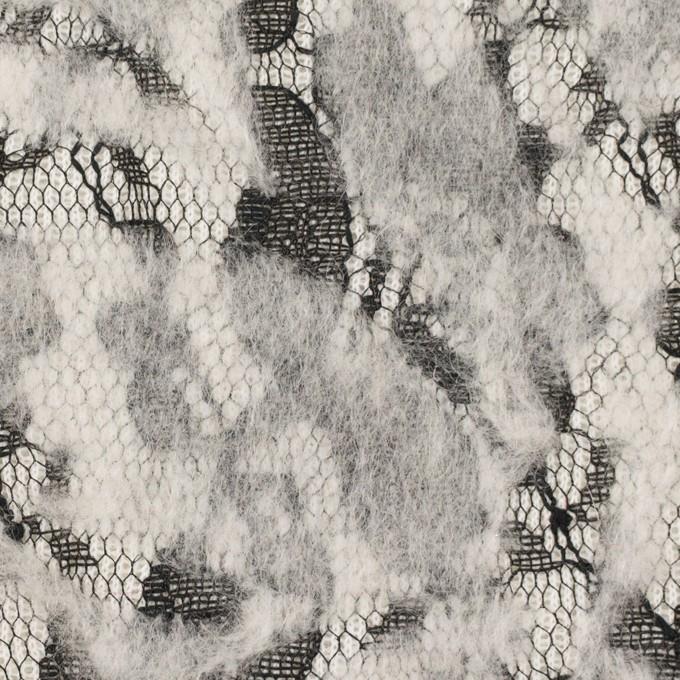 ポリエステル&アクリル混×フラワー(オフホワイト)×ニードルパンチレース_全3色 イメージ1
