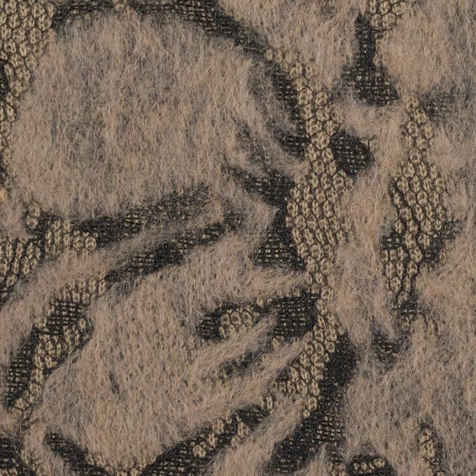 ポリエステル&アクリル混×フラワー(モカ)×ニードルパンチレース_全3色 イメージ1