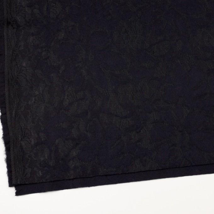 ポリエステル&アクリル混×フラワー(ダークネイビー)×ニードルパンチレース_全3色 イメージ2