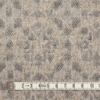 ウール&ポリエステル混×幾何学模様(ベージュ&ブラック)×ジャガード サムネイル4