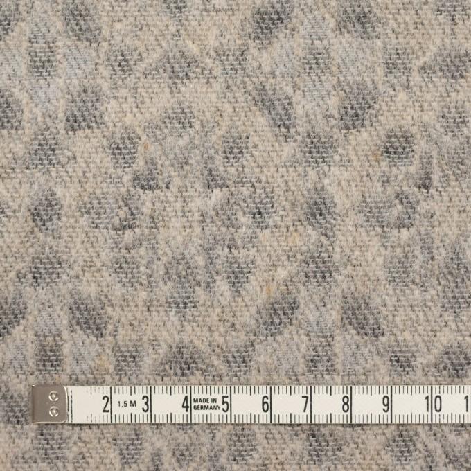 ウール&ポリエステル混×幾何学模様(ベージュ&ブラック)×ジャガード イメージ4