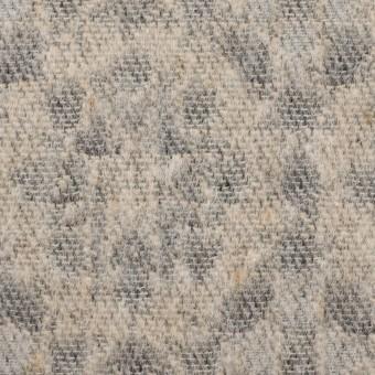 ウール&ポリエステル混×幾何学模様(ベージュ&ブラック)×ジャガード サムネイル1