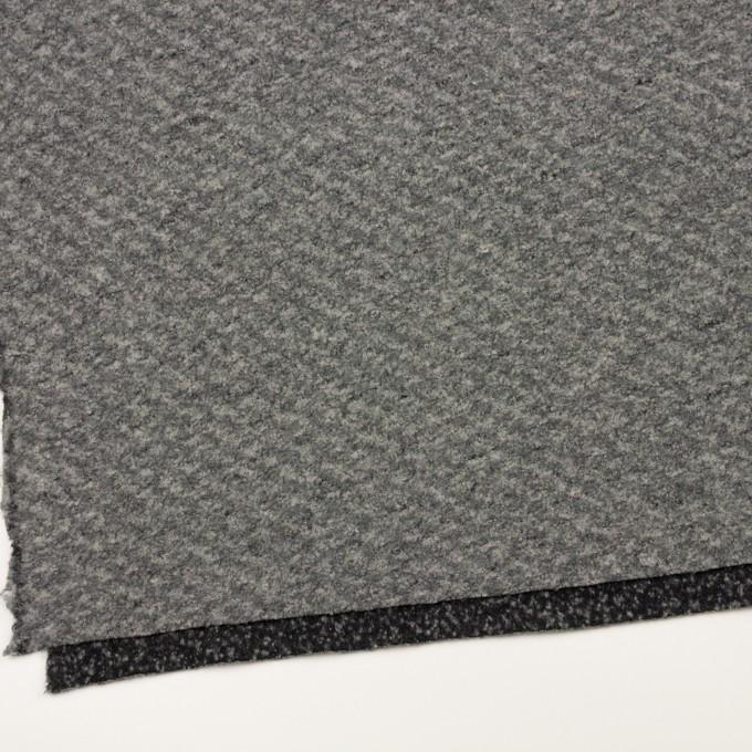 ウール&ナイロン混×ミックス(グレー)×ループニット イメージ2