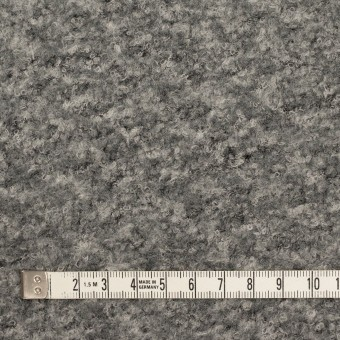 ウール&ナイロン混×ミックス(グレー)×ループニット サムネイル4