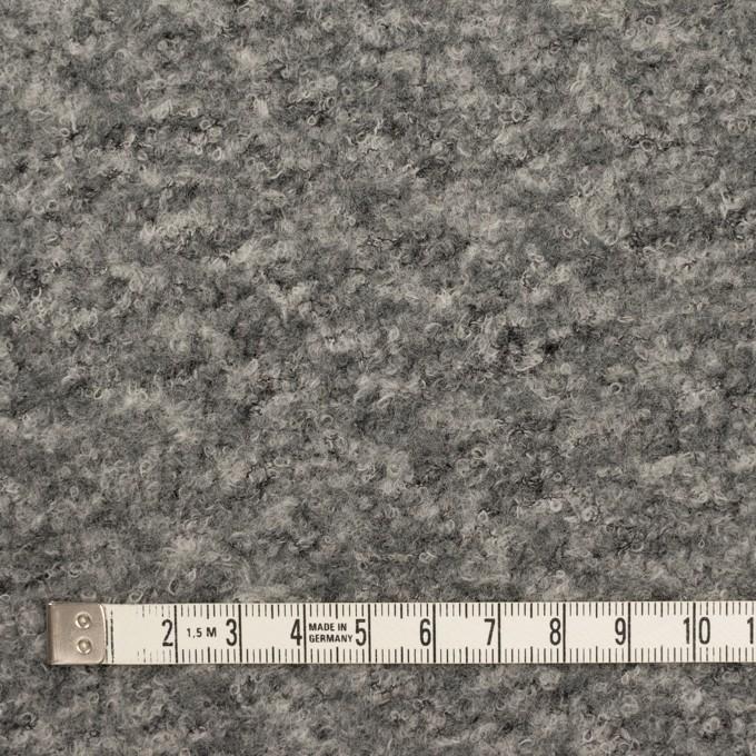 ウール&ナイロン混×ミックス(グレー)×ループニット イメージ4