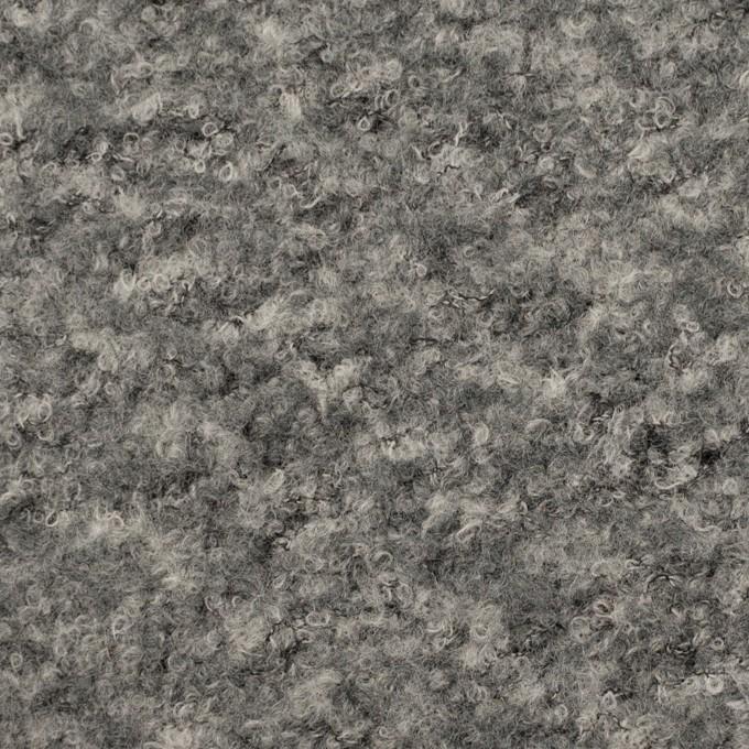 【200cmカット】ウール&ナイロン混×ミックス(グレー)×ループニット イメージ1
