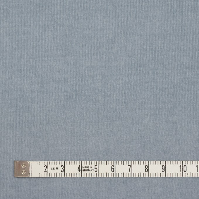 コットン&ポリウレタン×無地(スモークブルー)×細コーデュロイ・ストレッチ イメージ4