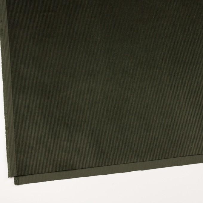 コットン&ポリウレタン×無地(カーキグリーン)×中コーデュロイ・ストレッチ イメージ2
