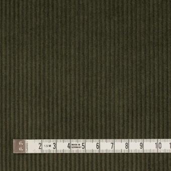 コットン&ポリウレタン×無地(カーキグリーン)×中コーデュロイ・ストレッチ サムネイル4