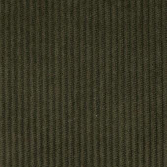 コットン&ポリウレタン×無地(カーキグリーン)×中コーデュロイ・ストレッチ サムネイル1