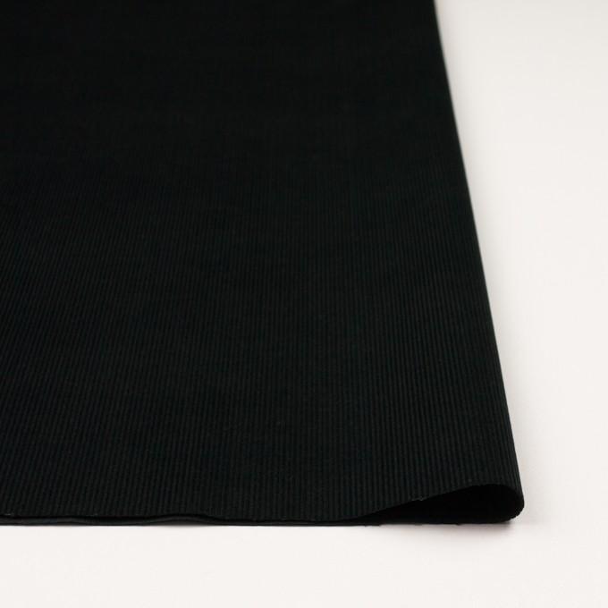 コットン×無地(ブラック)×中細コーデュロイ イメージ3
