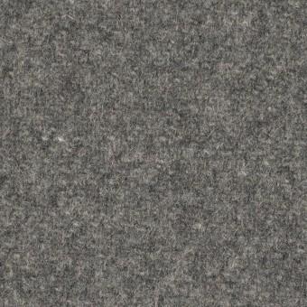 【140cmカット】ウール×無地(グレー)×メルトン