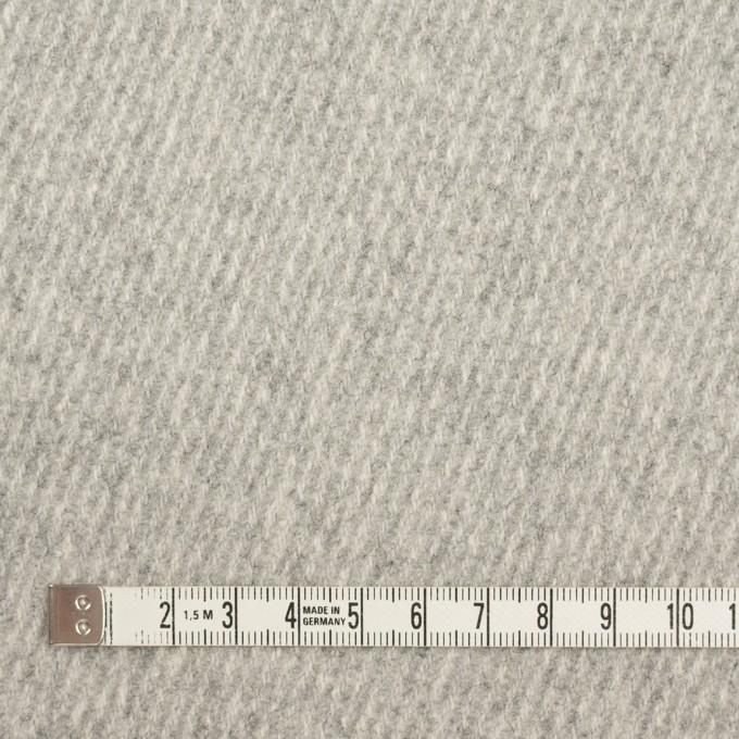 ウール×無地(ライトグレー)×厚カルゼ_全2色 イメージ4