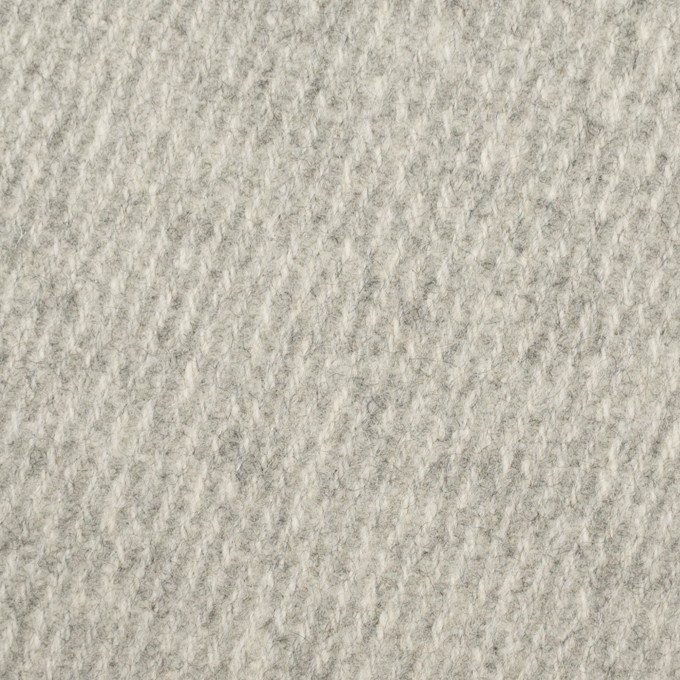 ウール×無地(ライトグレー)×厚カルゼ_全2色 イメージ1