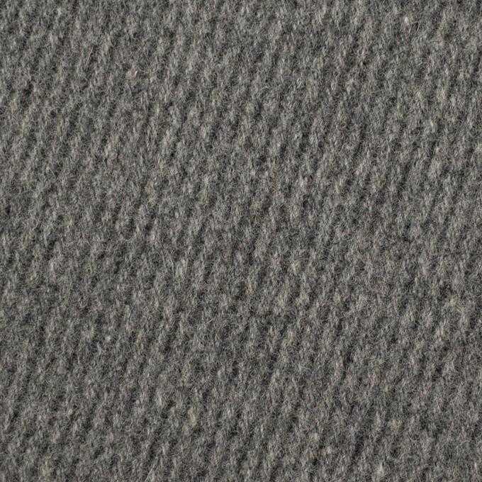 ウール×無地(チャコールグレー)×厚カルゼ_全2色 イメージ1