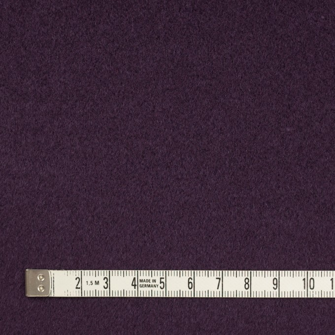 ウール×無地(パープル)×ビーバー_イタリア製 イメージ4