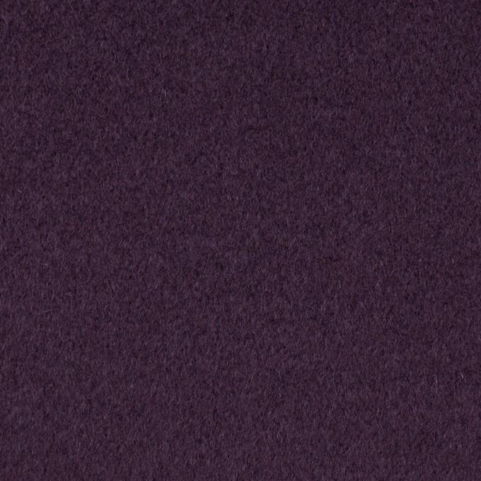 ウール×無地(パープル)×ビーバー_イタリア製 イメージ1