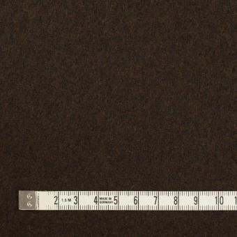 ウール&ナイロン×無地(ダークブラウン)×メルトン サムネイル4