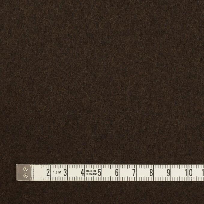 ウール&ナイロン×無地(ダークブラウン)×メルトン イメージ4