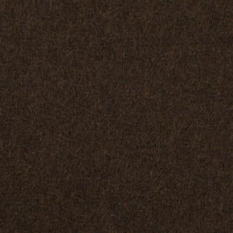 ウール&ナイロン×無地(ダークブラウン)×メルトン