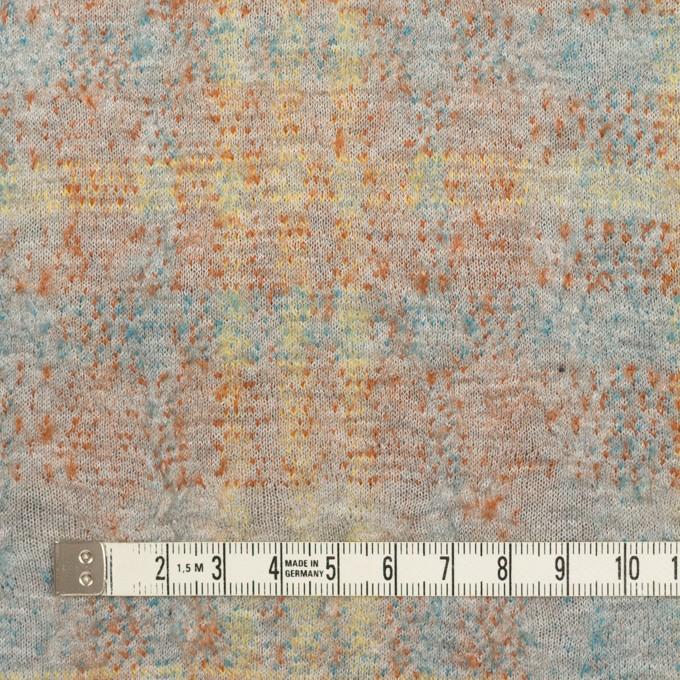 コットン&ウール×チェック(ライトグレー、オレンジ&レモン)×ジャガードニット_全2色 イメージ4