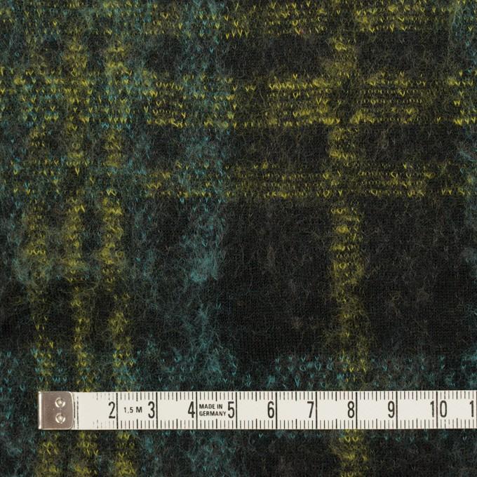 コットン&ウール×チェック(ブラック、ミント&レモン)×ジャガードニット_全2色 イメージ4