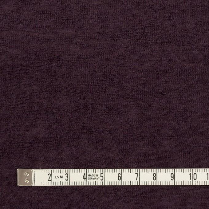 ウール×無地(ダークパープル)×フライスニット イメージ4